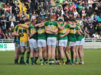 Kerry huddle before their victory against Cork on Sunday. Photo by Dermot Crean.