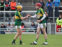 Job done. John Griffin and Tommy Casey after the final whistle.