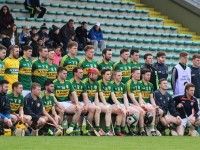 The Kerry panel that faced Laois in the relegation playoff. Photo by Gavin O'Connor.