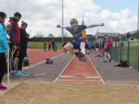 Minor Boys Long Jump, with Sean Horan of Tralee CBS competing. Photo by Adrienne McLoughlin