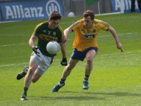 Paul Murphy takes off for Kerry against Roscommon in Croke Park on Sunday. Photo by Gavin O'Connor.