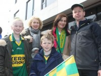 Hazel Langan, Mary Dilane ,Kieran Langan, Caroline Langan and John Langan. at Kerry v Roscommon in Croke Park. Photo by Gavin O'Connor.