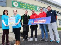 Launching the 'Make a Wish Foundation Family Fun Day' in John Mitchels Sports Complex were, from left: Deirdre O'Brieb and Debbie Moriarty, Ger Dennehy, JT Deenihan John Maher and Paudi O'Shea. Photo by Gavin O'Connor.