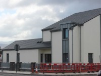 The two new houses at the entrance of Mitchels Road. Photo by Gavin O'Connor.