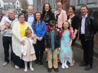 Kerry O'Connor made her Confirmation with family in St John's Church on Thursday. Photo by Gavin O'Connor.
