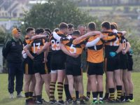 Kieran Donaghy talks to teammates before the Austin Stacks v Dingle match in the club championship this year. Photo by Dermot Crean