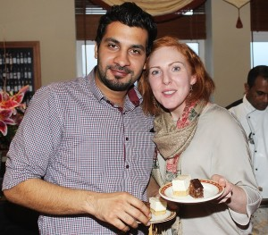 Fahad Maliek and Elaine Mooney at The Taste For Africa in the Tankard, Spa on Tuesday night. Photo by Gavin O'Connor.