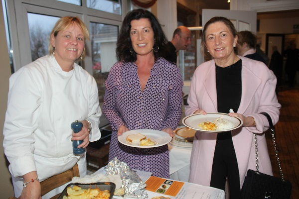 Trish McCarthy, Carol Benner and Lena O'Sullivan at The Taste For Africa in the Tankard, Spa on Tuesday night. Photo by Gavin O'Connor.