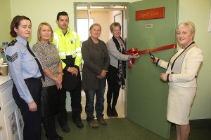 At the opening of the dedicated support room in Tralee Courthouse were from left: Sargent Eileen O'Sullivan, Vera O'Leary (Manager Kerry Rape and Sexual Abuse Centre), Aidan O'Mahony, Deborah Courtney (Survivor), Nuala Rigney (Kerry Rape and Sexual Abuse Centre) and Dr Mary McCaffrey (Scotia Clinic). Photo by Gavin O'Connor.