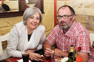 Eleanor Wall and Roy Bowler at the Summer Party at Kirby's Brogue Inn. Photo by Gavin O'Connor.