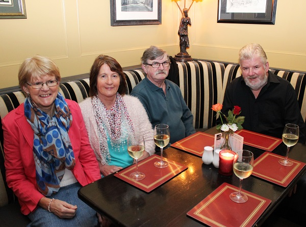 Marian Egan, Bridget Sweeney, Brendan Sweeney and Terry Egan at the Summer Party at Kirby's Brogue Inn. Photo by Gavin O'Connor.