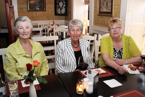 Joan O'Sullivan, Peggy O'Shea and Mary Looby at the Summer Party at Kirby's Brogue Inn. Photo by Gavin O'Connor.