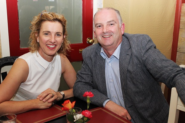 Frank and Caroline Moore at the Summer Party at Kirby's Brogue Inn. Photo by Gavin O'Connor.