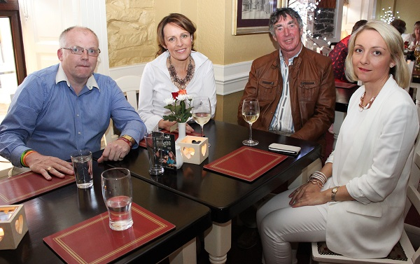 Kevin Finn, Sandra Leahy, Mike McDonald and Lisa Geaney at the Summer Party at Kirby's Brogue Inn. Photo by Gavin O'Connor.
