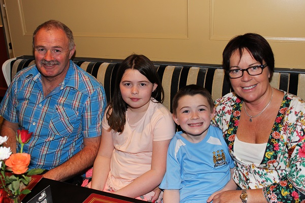 Seamus, Holly, Rory and Adah McKinty at the Summer Party at Kirby's Brogue Inn. Photo by Gavin O'Connor.