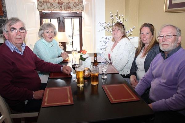 Dan Rael, Breda Walshe, Patricia Turner, Anne O'Shea and Martin Brosnan at the Summer Party at Kirby's Brogue Inn. Photo by Gavin O'Connor.