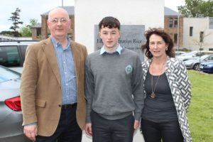 Michael and Tommy Lynch and Patricia Sheahan at the CBS The Green Graduation Night and Awards on Thursday. Photo by Dermot Crean