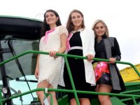 Kingdom County Fair Rose contestants Róisín Gilding, Holly O'Mahony and Kirsty Hill at the Kingdom County Fair on Sunday. Photo by Dermot Crean