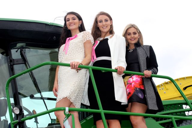 Kingdom County Fair Rose contestants Róisín Gilding, Holly O'Mahony and Kirsty Hill at the Kingdom County Fair on Sunday. Photo by Dermot Crean