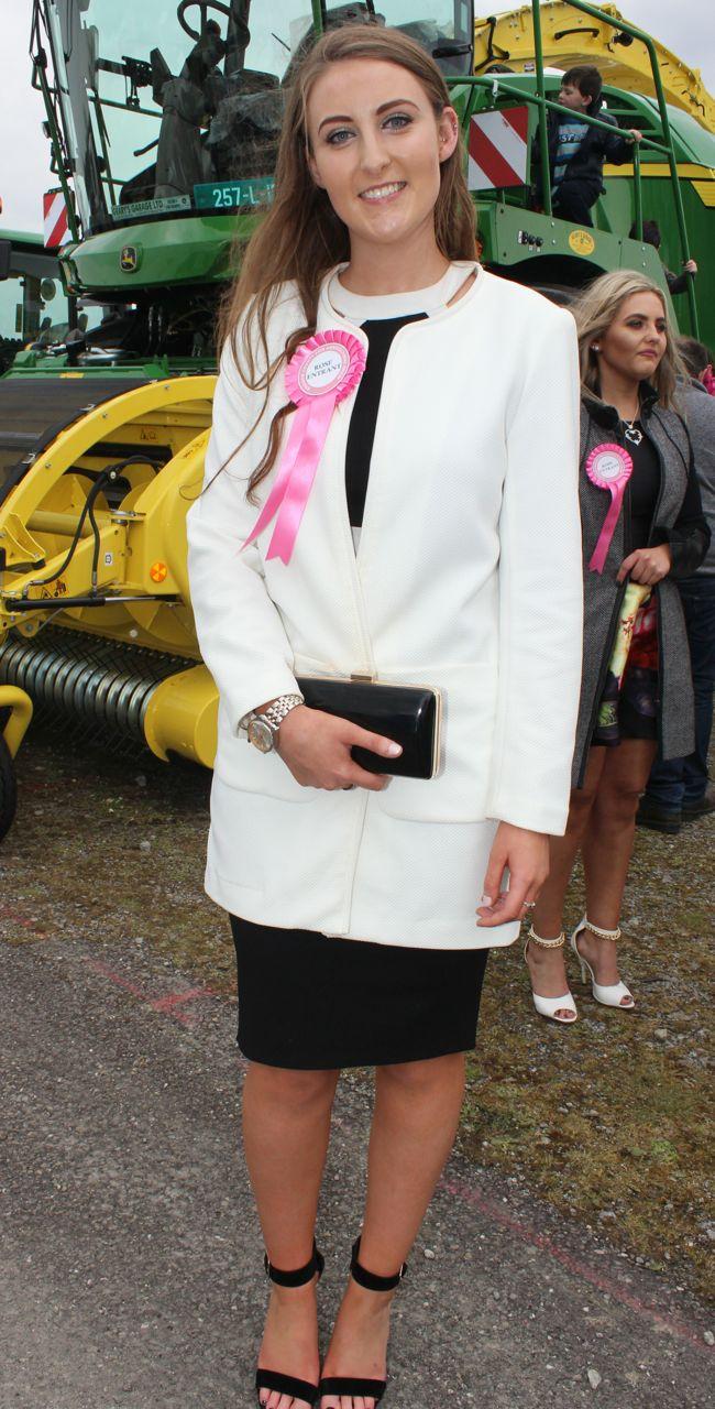 Kingdom County Fair Rose contestant Holly O'Mahony at the Kingdom County Fair on Sunday. Photo by Dermot Crean