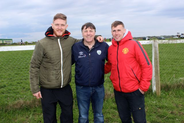 Shane Guthrie, John Hegarty and Christopher Hegarty at the Kingdom County Fair on Sunday. Photo by Dermot Crean
