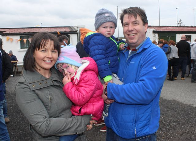 Mairead, Aoife, Cian and Finbarr Canty at the Kingdom County Fair on Sunday. Photo by Dermot Crean