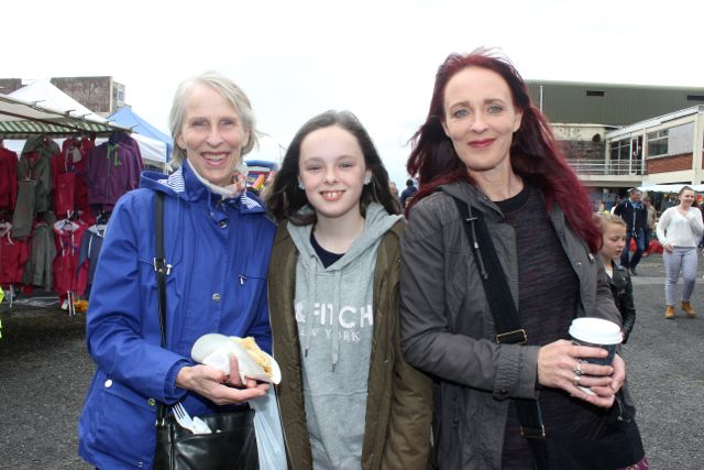 Kay Carabine, Iseult Ní Chathasaigh and Susan Carabine at the Kingdom County Fair on Sunday. Photo by Dermot Crean