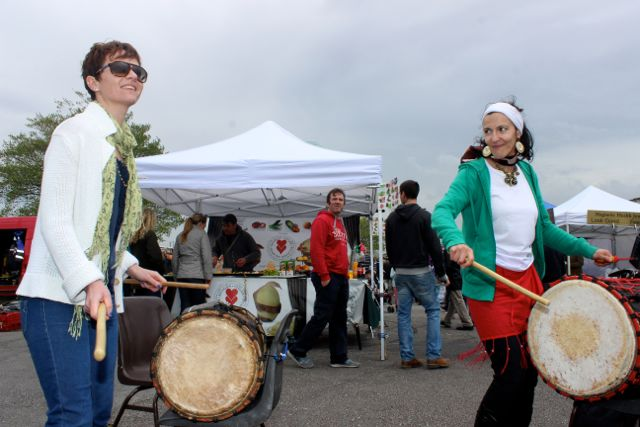 Members of Samba Cuisle in action at the Kingdom County Fair on Sunday. Photo by Dermot Crean