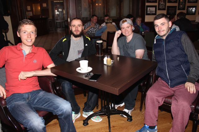 Karl Johnson, Jack Godley, Emma Johnson and Stephen Roche at the Kerry Film Festival Movie Quiz at The Imperial Hotel on Wednesday night. Photo by Dermot Crean