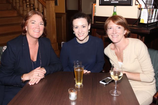 Grace O'Donnell. Caroline Drummey and Melanie O'Donnell at the Kerry Film Festival Movie Quiz at The Imperial Hotel on Wednesday night. Photo by Dermot Crean