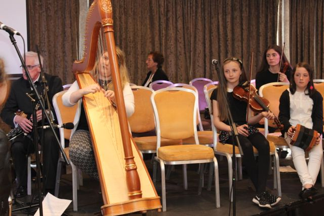 Musicians rehearsing before the opening of Fleadh Cheoil Chiarraí at the Rose Hotel on Wednesday night. Photo by Dermot Crean