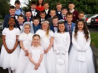 Holy Family National School students who had their First Holy Communion last Saturday in St Brendans Church.