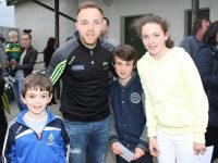 Darran O'Sullivan with young fans at the Kerry GAA Night of Champions at Kingdom Greyhound Stadium on Friday night. Photo by Dermot Crean