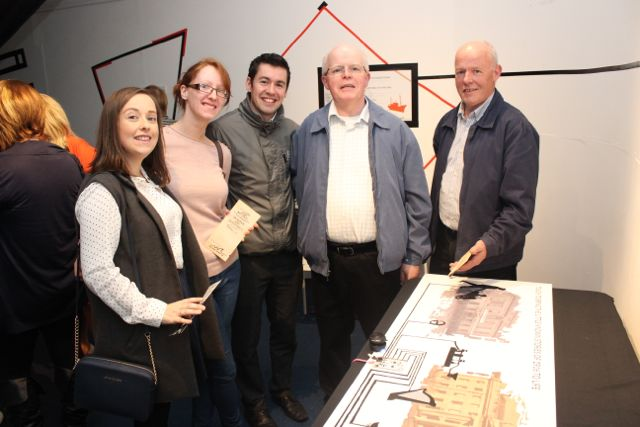 Samantha Nash, Donna Waters, Tony Nash, Tim Nash and Donal Nash at the Media Rising exhibition at Kerry County Museum on Thursday evening. Photo by Dermot Crean