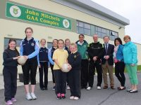 At the Ladies Football Mitchels/Boherbee Regeneration Project Football Blitz in John Mitchels Sports Complex were, from left: Rachel Prenderville, Erica O'Sullivan, Amy Cullan, Emma Sheehy, Lilly Collins, Roisin O'Connell, Grainne Green, Rory Kilgallen, William Harmon, Pat Sayers, Cora Carrigg and Anne O'Mahony. Photo by Gavin O'Connor.
