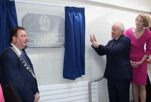 Former Minister for Arts and The Gaeltacht, Jimmy Deenihan, officially opened the Mercy Mounthawk Centenary Building. Photo by Gavin O'Connor.