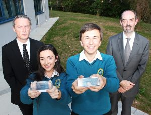 Winners of Student of the Year, Ali Feely and Liam O'Leary with teacher Shane Kissane and principal John O'Rourke. Photo by Gavin O'Connor.