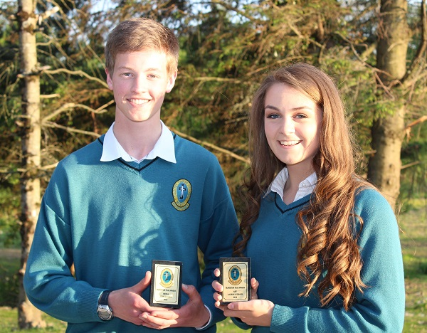 John Holmes and Lauren O'Grady at the Mercy Mounthawk transition year student awards night. Photo by Gavin O'Connor.