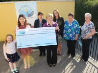 At the cheque handover from 'Recover Your Sparkle' to Recover Haven were, from left: Ellie Clifford, Mary O'Donnell, Michelle King, Noreen O'Brien, Christine McAuliffe, Clíodhna Cunningham and Eilleen Commerford. Photo by Gavin O'Connor.