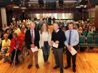 Members of 'Save Tralee' at the meeting on Monday night were, from: Billy Nolan, Heather O'Sullivan, Der O'Sullivan and Dick Boyle. Photo by Gavin O'Connor.