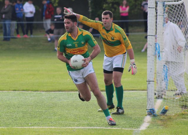 Bryan Sheehan back defending during the Austin Stacks v South Kerry game on Saturday. Photo by Dermot Crean