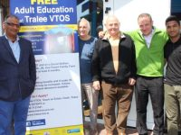 Shafique Mohmoad, James Daly, Patrick Horgan, John McSweeney and Shahzaib Saghir at the Tralee VTOS Open Day on Wednesday. Photo by Dermot Crean