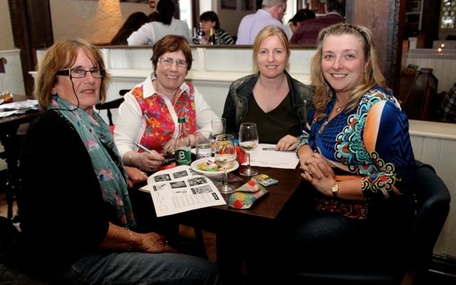 Maureen Geary, Brenda O'Regan, Marie Knee and Corin O'Brien at the table quiz in The Ashe Hotel on Thursday night. Photo by Dermot Crean