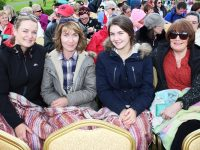 Grainne Browne, Sandra Young, Maeve Young and Anne Browne at the outdoor performance of Sense and Sensibility in Ballyseedy Castle. Photo by Gavin O'Connor.
