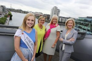 Pictured at the launch of the Enterprise Ireland International Business Women's Conference are Rose of Tralee, Elysha Brennan, Enterprise Ireland CEO, Julie Sinnamon, Minister for Jobs, Enterprise and Innovation, Mary Mitchell O'Connor and Head of Business Banking at AIB, Catherine Moroney. Credit Gary O' Neill