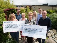 At the cheque handover of €3,000 to Recovery Haven were, from left: Lisa O'Donoghue Delve, Brian Delve, Anne Curran, Mary O'Donoghue, Patricia O'Donoghue, John McCarthy and Kennith Reynolds,