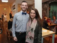 Andy Downes and Laura O'Connell at the comedy night at Il Forno on Thursday. Photo by Dermot Crean