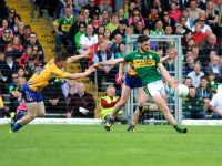 Paul Geaney in action for Kerry against Clare in the Munster SFC semi-final at Fitzgerald Stadium in June. Photo by Dermot Crean.