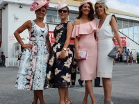 Tasha and Jordana O'Connor, Nicole and Brenda O'Brien at Listowel Racecourse Ladies Day. Photo by Gavin O'Connor.