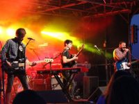 Delorentos performing at the rock gig in The Square on Friday night. Photo by Dermot Crean